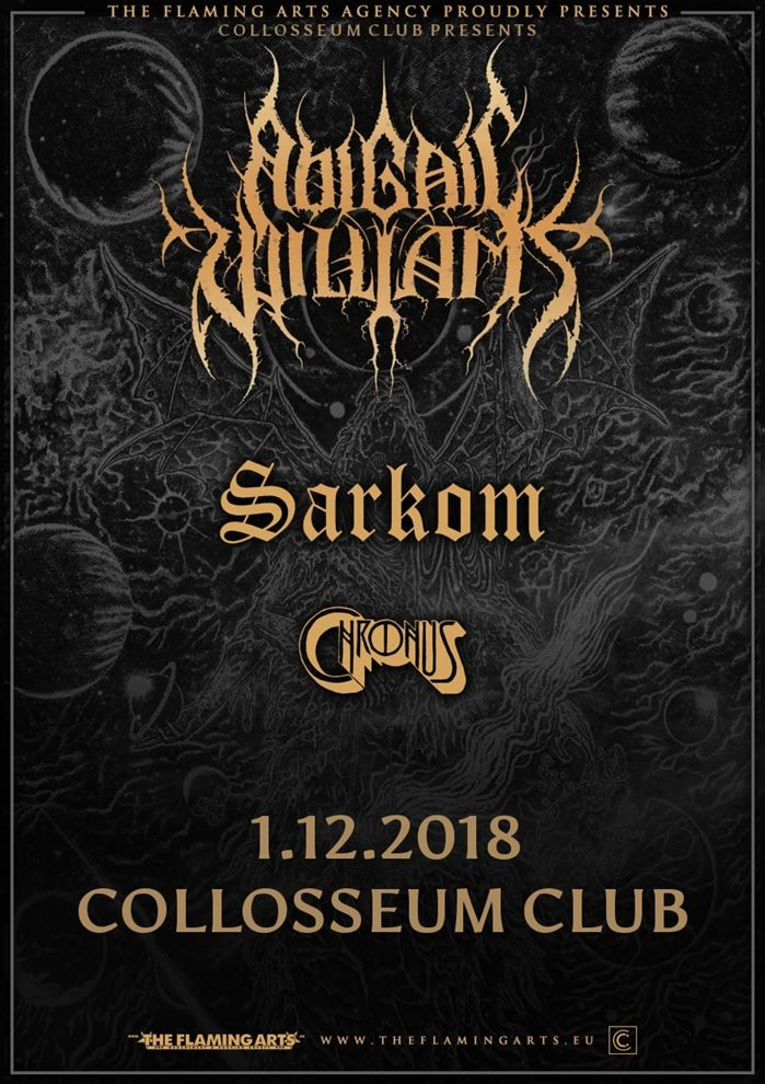 ABIGAIL WILLIAMS, SARKOM, CHRONUS - 1.12.2018 - Košice - Collosseum Club