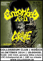 ENTOMBED A.D., GRAVE, IMPLODE - Košice - Collosseum, 16. 10. 2014